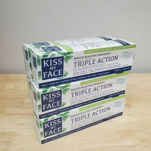 6 Tubes of Kiss My Face Triple Action Fresh Mint